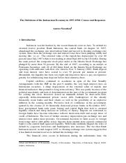 Causes & Responses of Indonesian Crisis.pdf