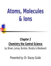 Atoms Molecules and Ions Lecture