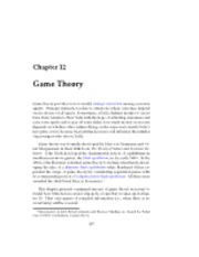 Ch12 Game Theory