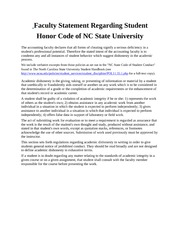 Faculty Code of Conduct