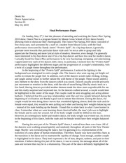 Dance Appreciation final paper