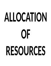 Lect 2 RESOURCE ALLOCATION.ppt