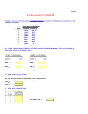 Excel Assignment 4_Chapter 12_FIN431