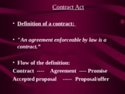 Chapter 2(a)-Contract Act