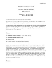 Information Systems Final Review