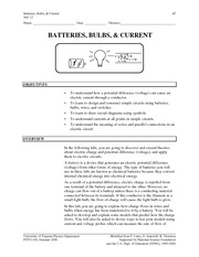 6 - Batteries, Bulbs, and Current