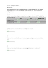 ACC 557 Homework Chapters CH.6 E6-7