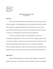 Paper Topic example (10%)