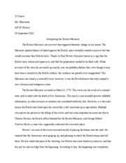 question then calculate n x n x  2 pages boston massacre essay