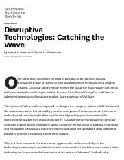 disruptive technologies catching the wave