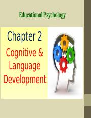 Chapter 2 Cognitive and Language Development.pptx