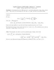 Midterm Exam 3 Spring 2010 Solution on Applied Analysis 2