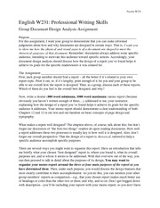 Document Design Analysis Assignment