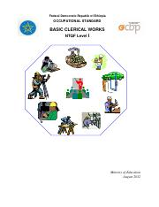 EOS  Basic Clerical Works Level I
