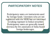 PARTICIPATORY NOTES