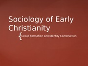 Sociology+of+Early+Christianity