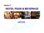 Chapter 7. Hotel Food & Beverage - BB