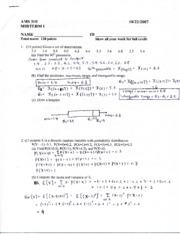 Sample Midterm Solution