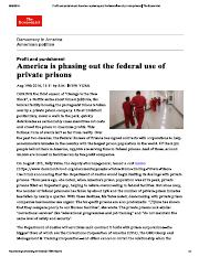 Profit and punishment America is phasing out private prisons Economist Aug 19th 2016.pdf