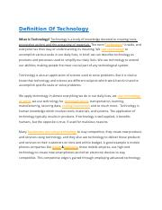 Definition Of Technology.docx