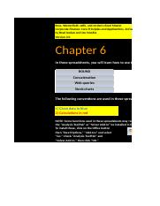 Core Chapter 06 Excel Master 3rd edition