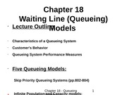 Chapter 18 - Queueing System