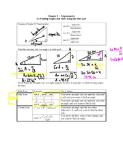 5.1 Finding Angles and Sides using Sine Law