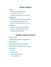 # 5 Social Groups
