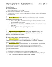 IMC Chapter 9 TB – Public Relations.docx