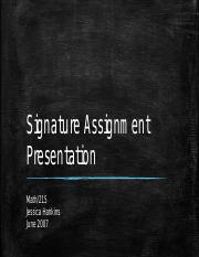 Signature Assignment Presentation