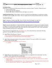 Lab 11 - One Sample Hypothesis Testing Answer Key