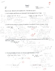 College Algebra Test 2