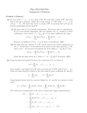 PHYS 231 Fall 2014 Assignment 1 Solutions