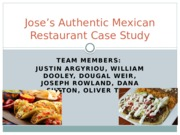 Jose's Mexican Restaurant.pptx