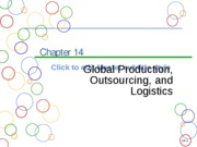 Chapter 14a Global Production, Outsourcing, and Logistics