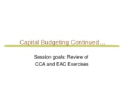 6. FIN 301-F10 Lab 6 Capital Budgeting PART II