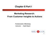 Chapter 8- Marketing Research- From Customer Insights to Actions Pt. 1