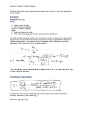 Lecture 2 Notes Titration Basics