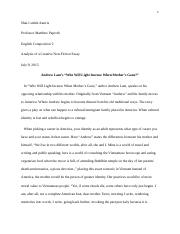 Analysis of a Creative Non-Fiction Essay