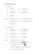 Exercise Integration By Partial Fraction (2)