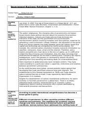 READING REPORT TEMPLATE - 2015