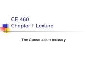 CE 460 Chapters 1-3