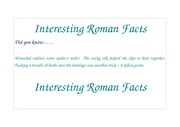 Interesting Roman Facts