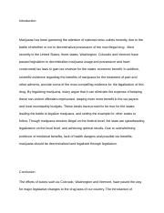 Week 6- Marijuana essay Introduction and conclusion.docx