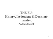 History and Instiuttions of the EU 07