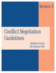 Conflict & negotiation--Guidlines