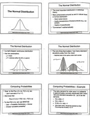 Notes On The Normal Distribution