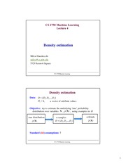 Lecture Notes D on Machine Learning