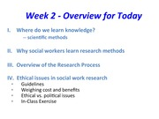 Week 2 Outline ScWk 170 Section 2