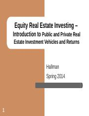 3-24 Public and Private equity real estate investing